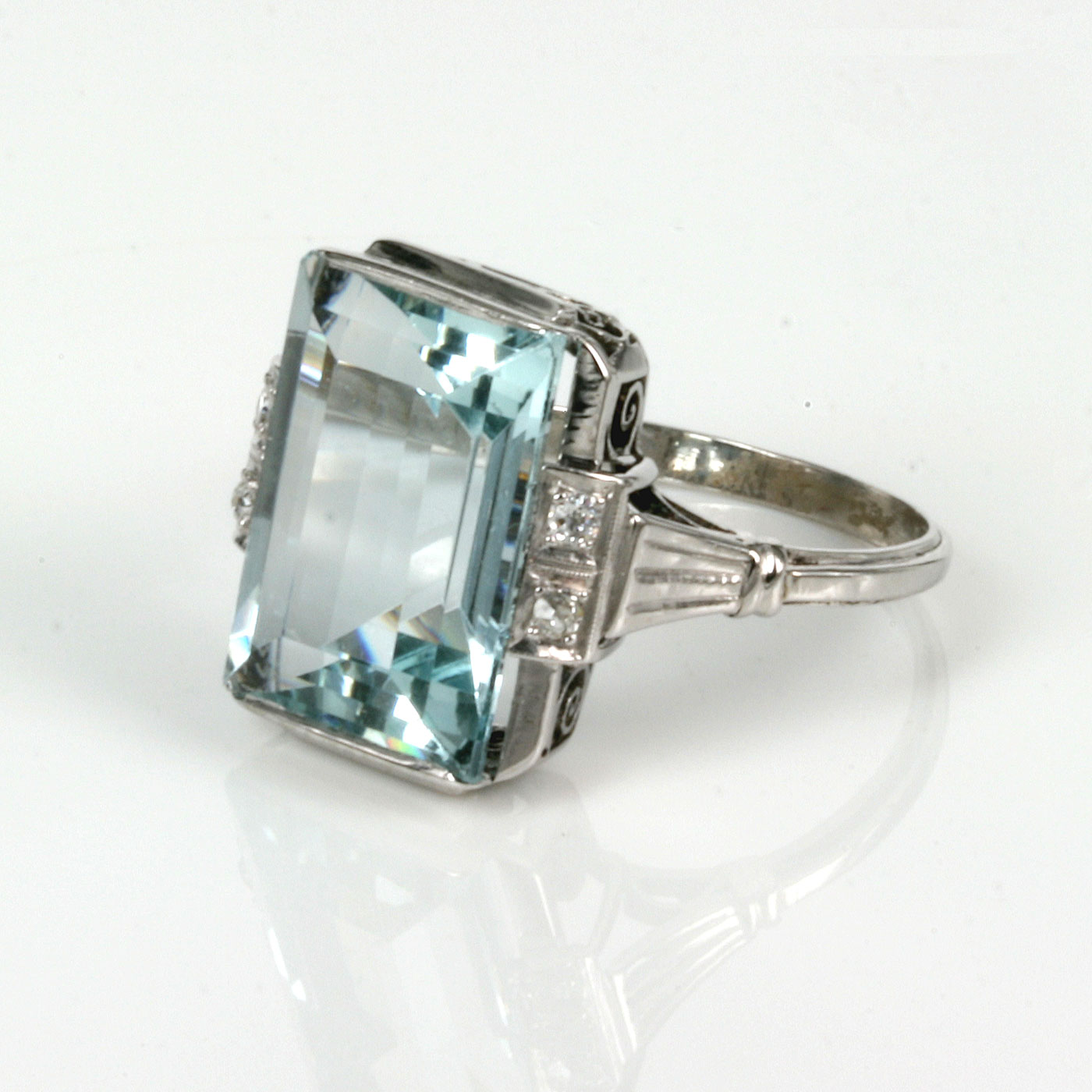 Aquamarine Set Ring