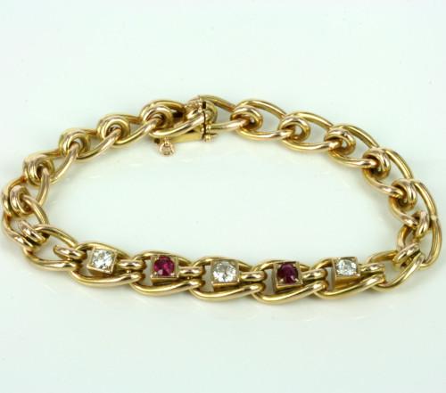 Austro-Hungarian ruby and diamond bracelet