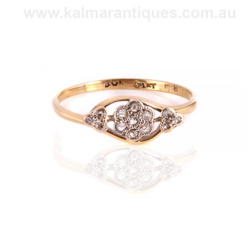 Art Deco diamond daisy cluster ring