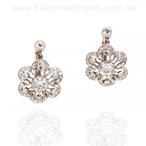 Art Deco diamond earrings Sydney