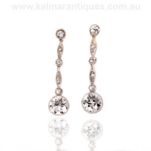 Art deco diamond drop earrings Sydney
