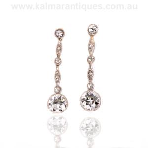 Art deco diamond drop earrings Sydney