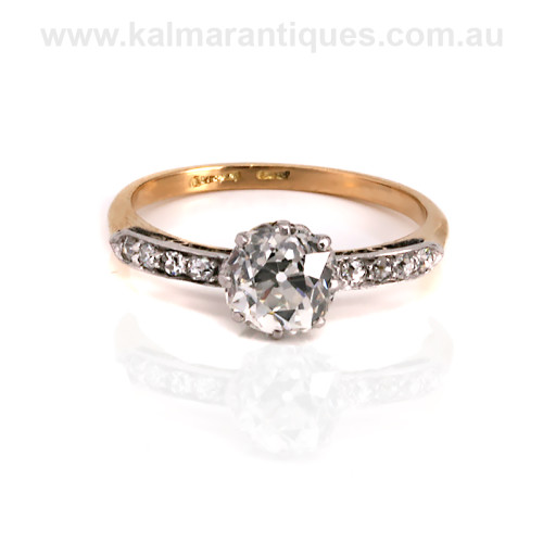 1920's Art Deco era diamond engagement ring Sydney