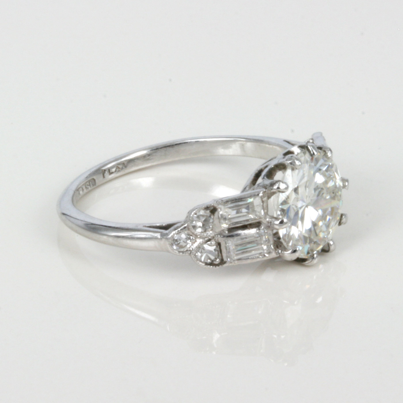buy art deco diamond ring in platinum sold items sold