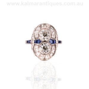 Art Deco sapphire and diamond ring