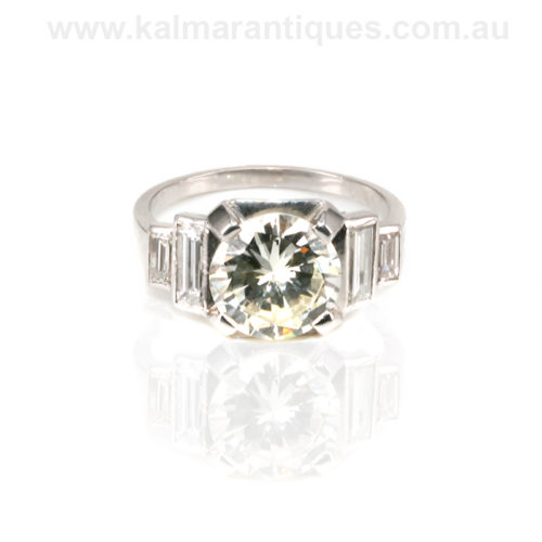 Art Deco diamond engagement ring from the 1920's