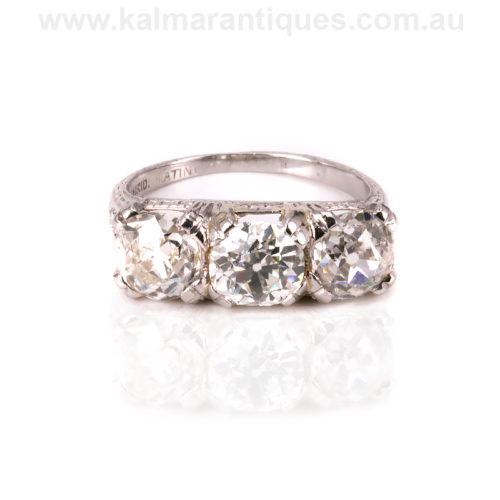 Platinum 1920's Art Deco diamond engagement ring