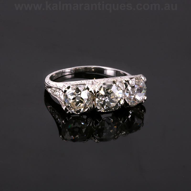 Platinum 1920 S Art Deco Diamond Engagement Ring