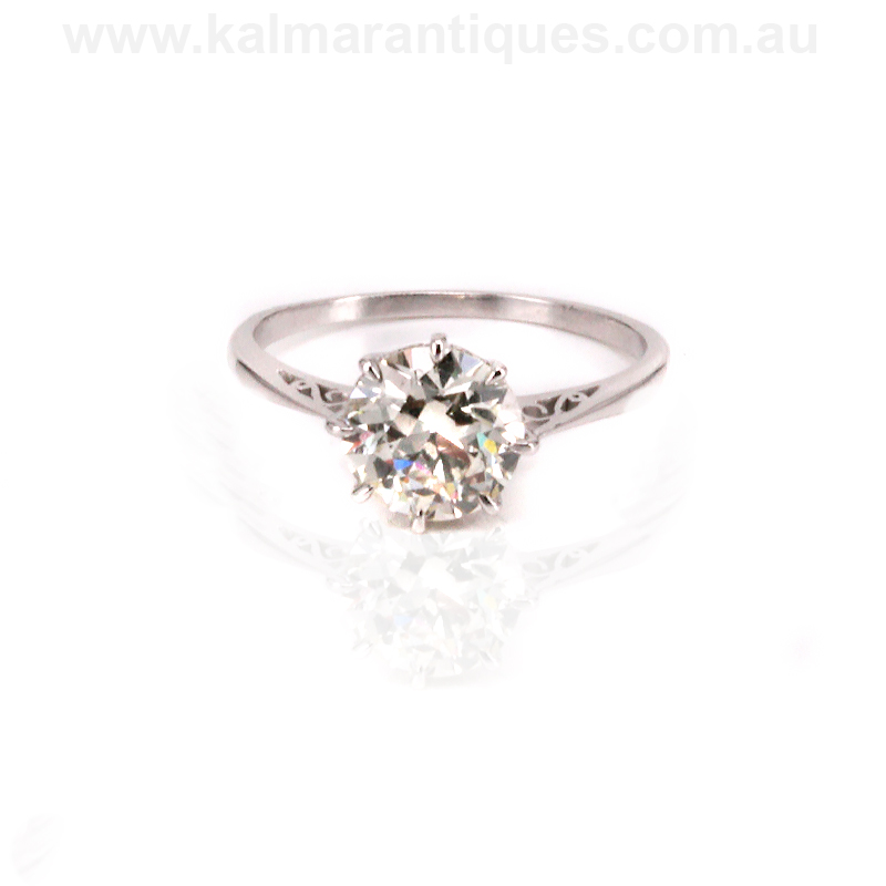 Platinum art deco diamond engagement ring available for for Art craft engagement rings