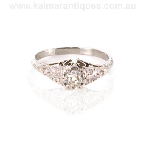 Art Deco diamond engagement ring Australia
