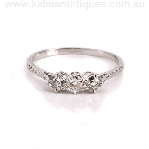 Art Deco diamond engagement ring Sydney