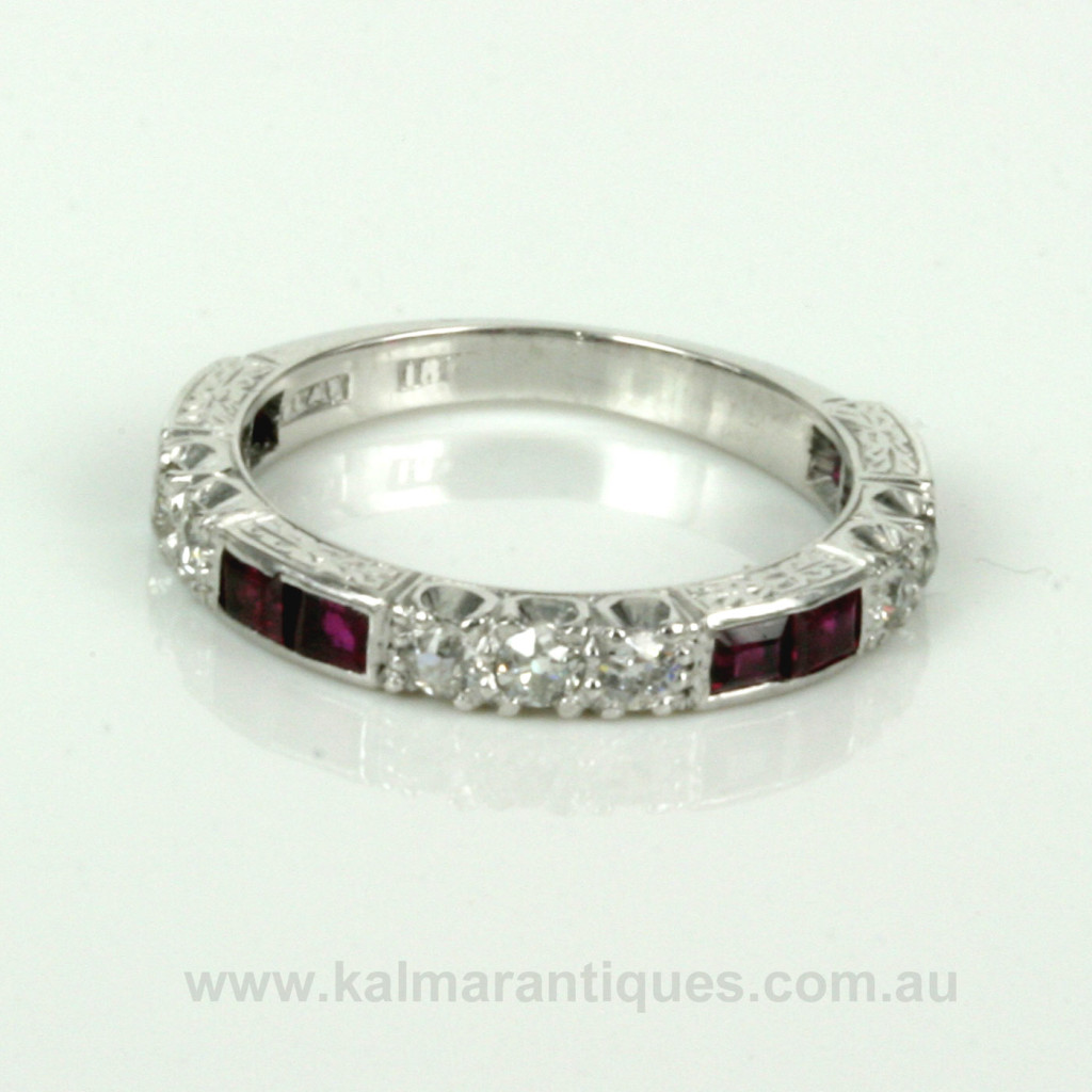 Buy Art Deco Ruby And Diamond Eternity Ring From The 1920