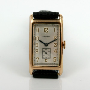 Rectangle Art Deco era Longines watch