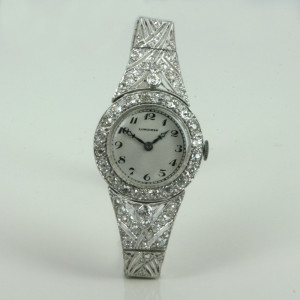 Art Deco diamond Longines watch.