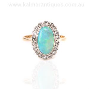 Art Deco 1920's opal and diamond ring Sydney