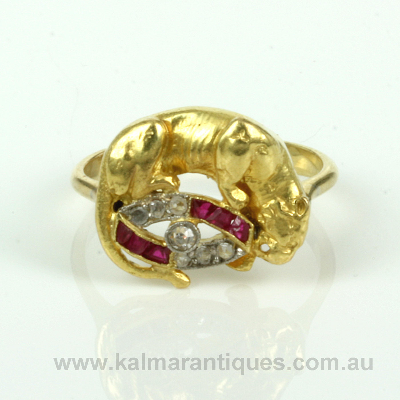 Buy Art Deco Ruby And Diamond Panther Ring Art Deco Art