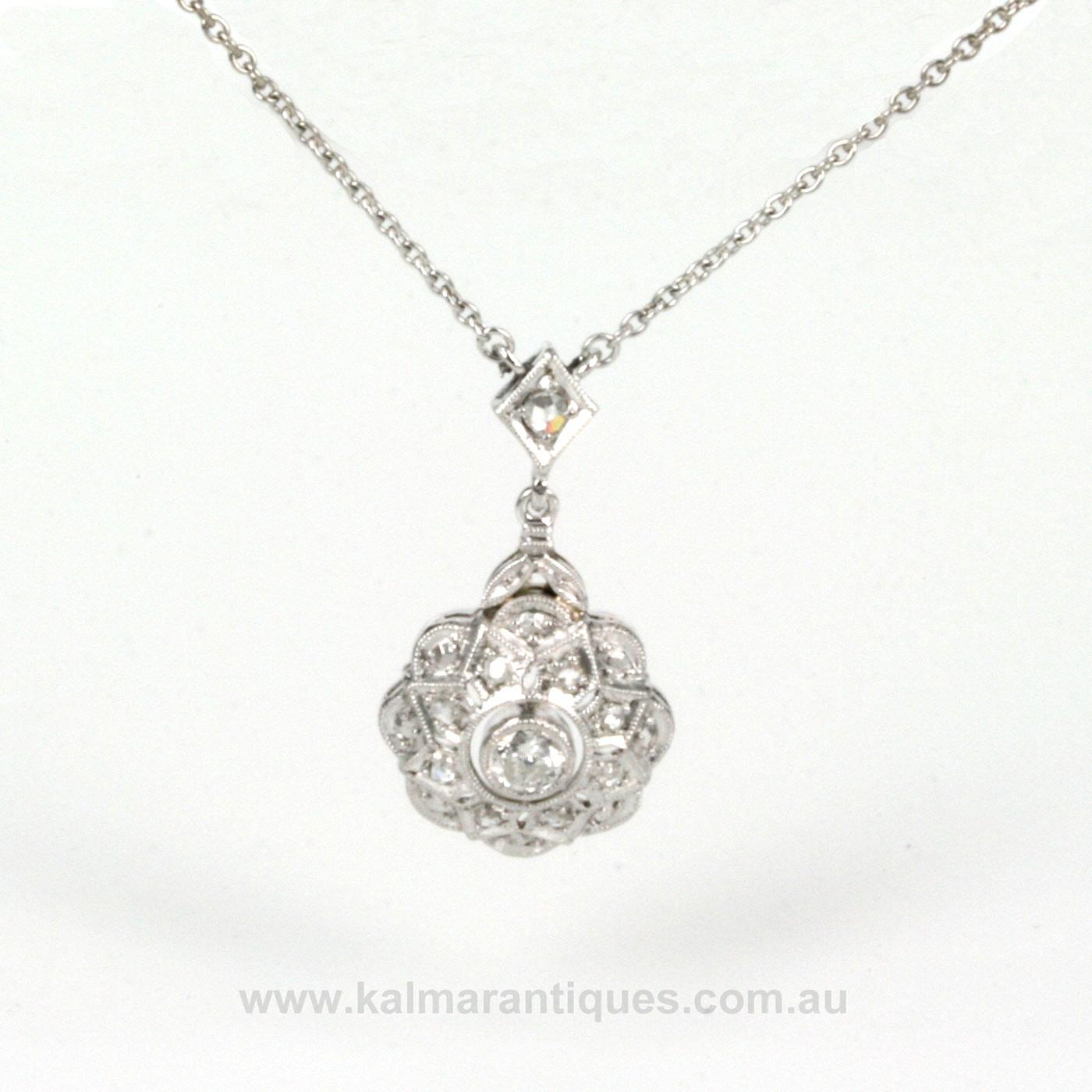 Buy 1920s art deco diamond pendant sold items sold jewellery 1920s art deco diamond pendant aloadofball Images