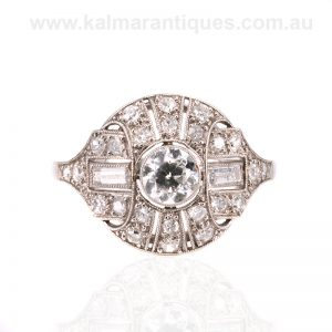 Art Deco diamond ring made in France in the 1920's