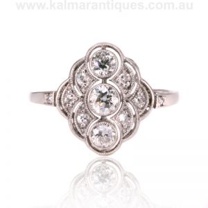 Exquisite Art Deco diamond ring dating from the 1920's