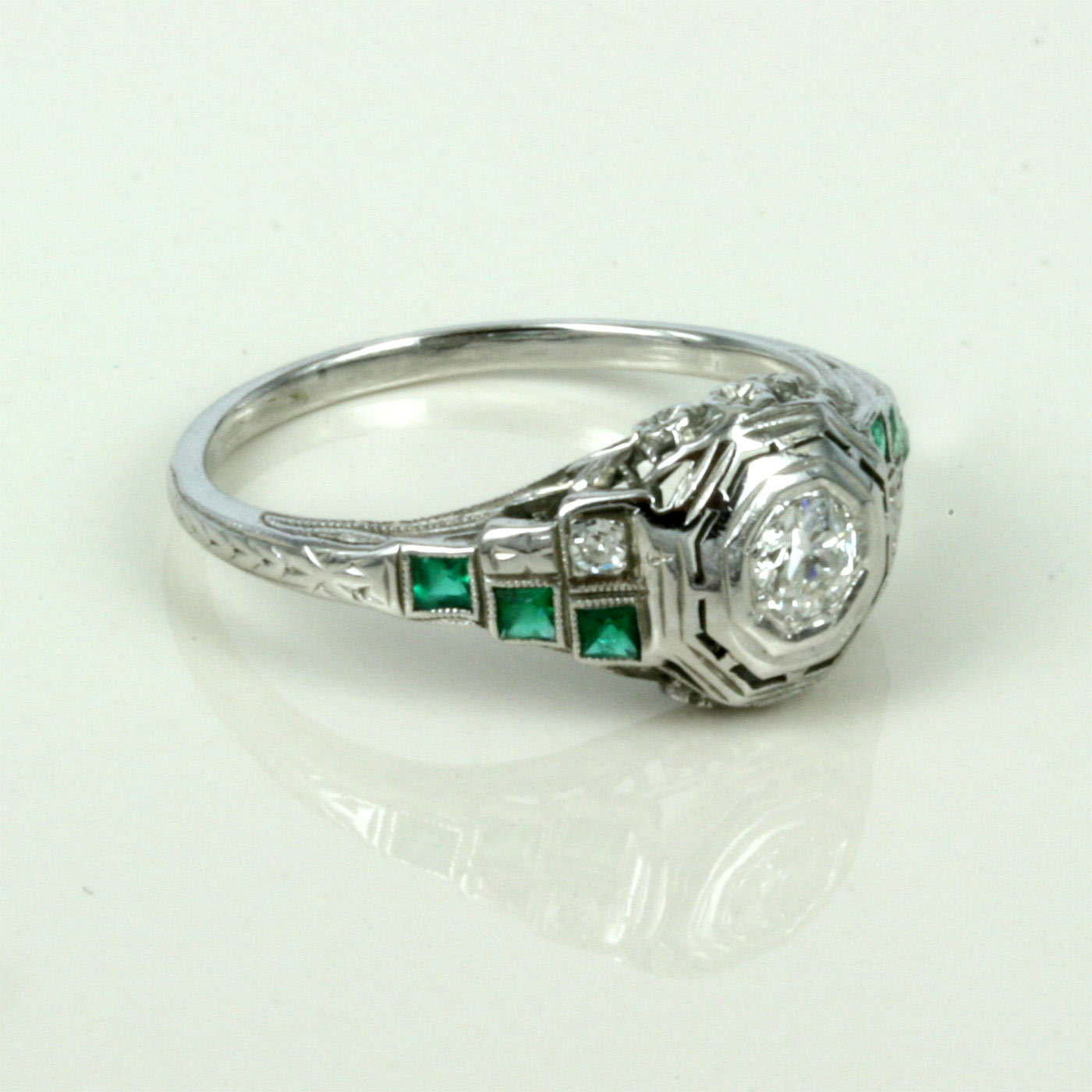emerald carat engagement cut diamond catalog ring