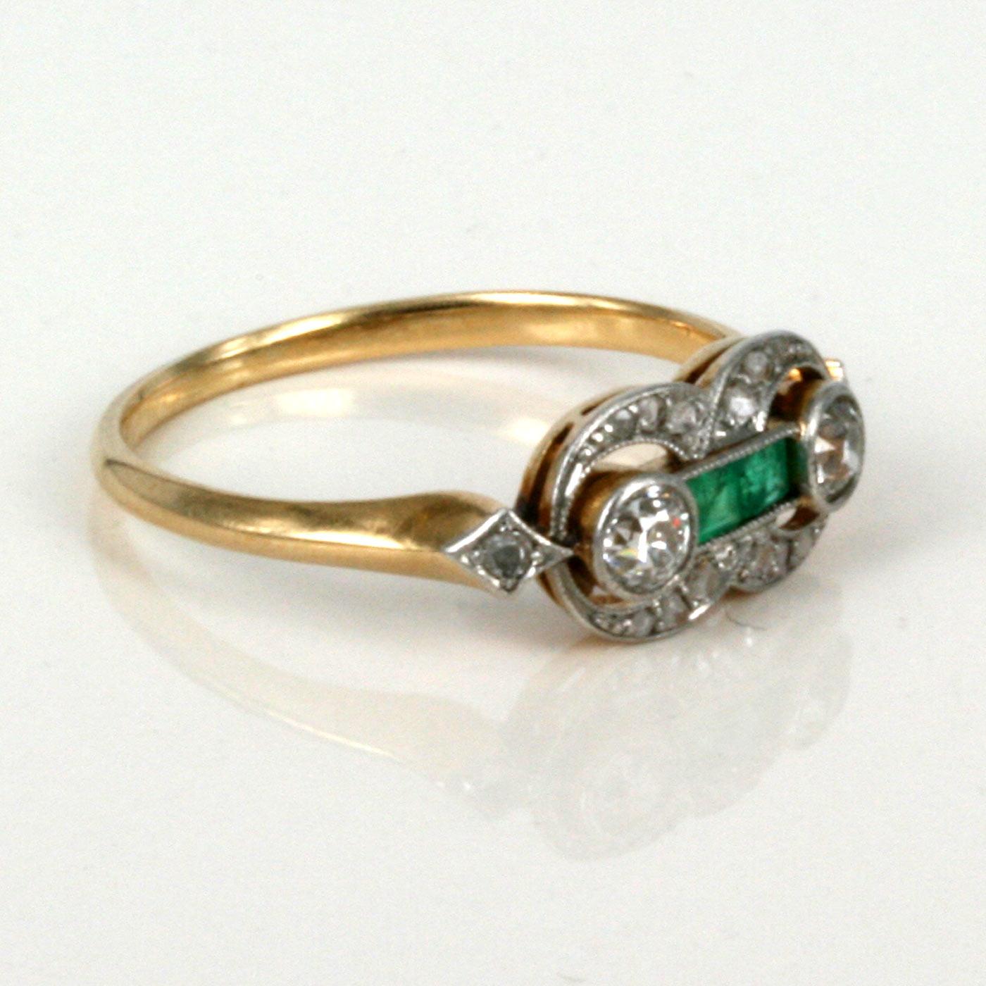 Vintage Art Deco Emerald Rings