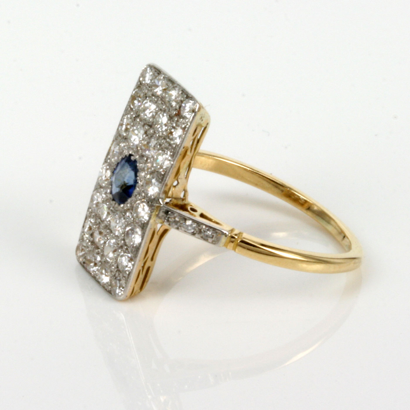 by emerald rectangle blanche white blue gold brilliyond ring cut jewellery engagement sapphire rings australian
