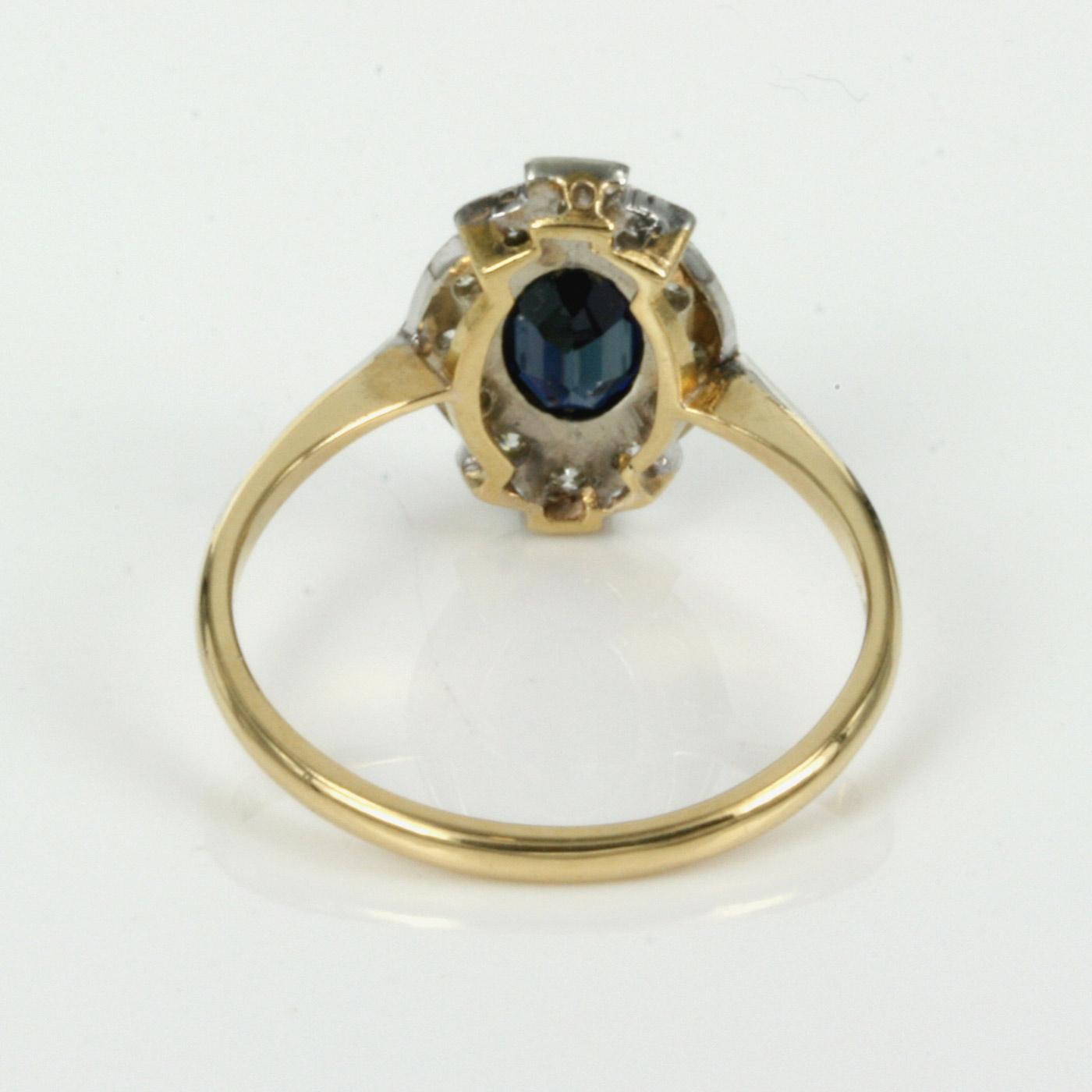 Buy Art Deco gold & platinum sapphire & diamond ring Sold Items