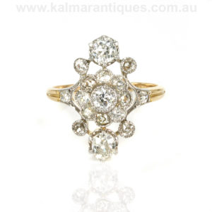 French Art Deco diamond engagement ring Sydney
