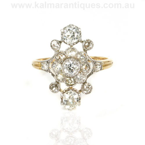 French Art Deco diamond engagement ring Sydney
