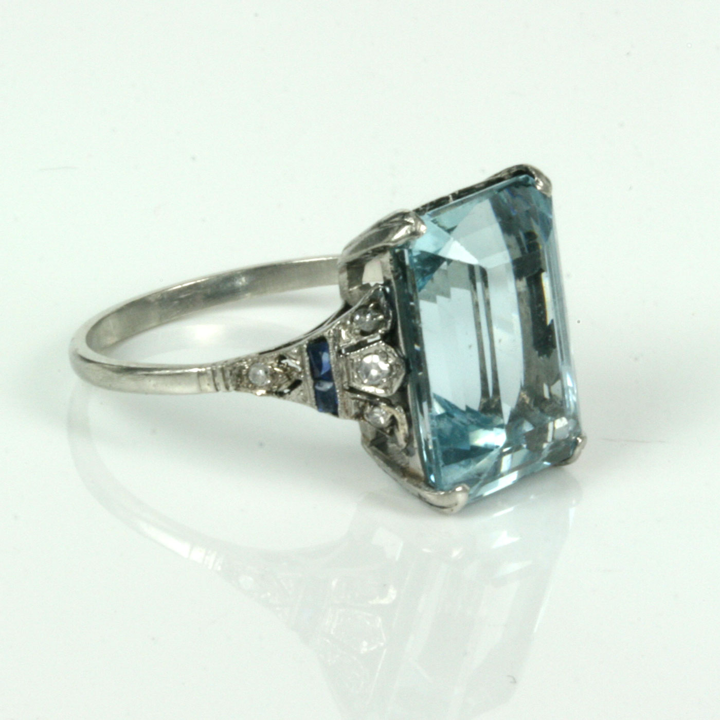 platinum deep art engagement in deco aquamarine jewellery alternative diamond pin era beautiful blue filigree natural ring set and