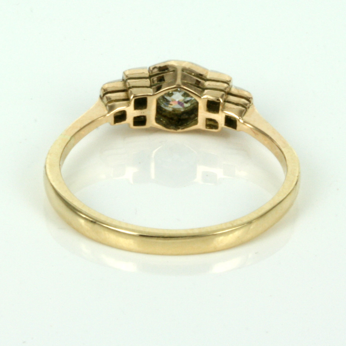 Buy Art Deco Diamond Engagement Ring In Gold And Platinum