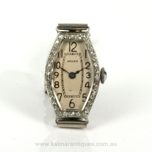 Art Deco diamond Rolex watch