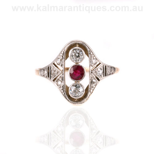 Vintage ruby and diamond ring Sydney