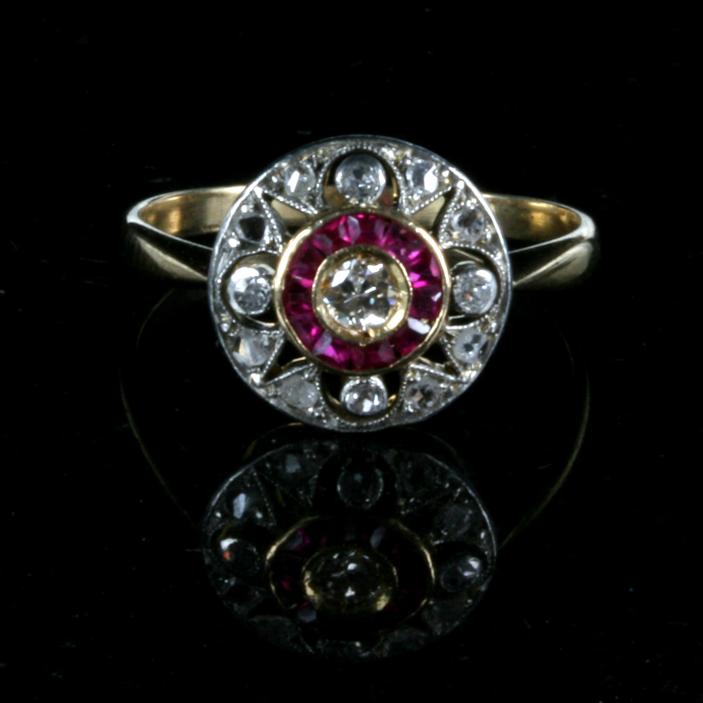 Buy Ruby And Diamond Art Deco Ring Sold Items Sold Rings