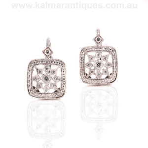 Art Deco style diamond earrings Sydney