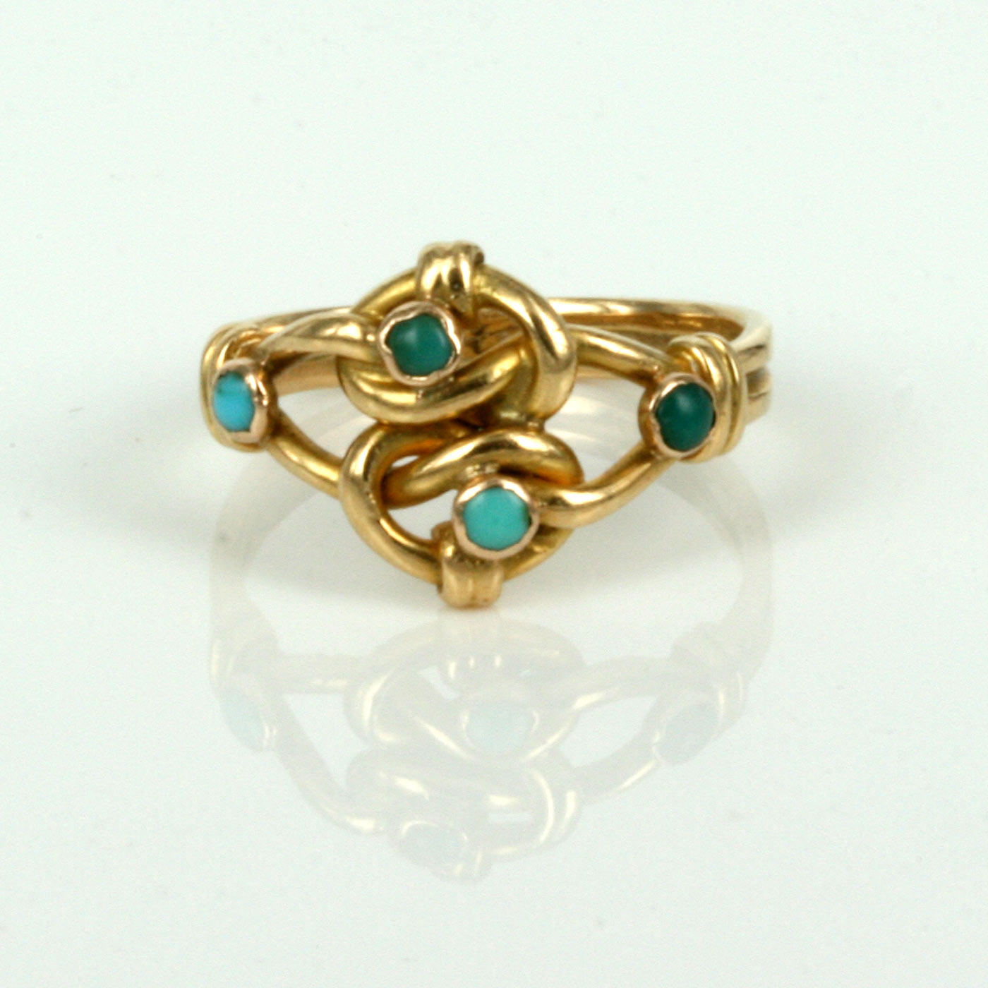 Buy Antique Art Nouveau turquoise ring made in 1900. Sold ...