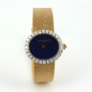 Baume & Mercier with lapis lazuli dial & diamonds.