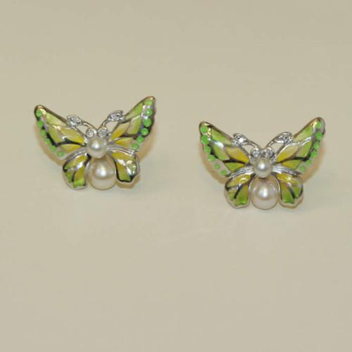 Plique-a-jour enamel earrings.