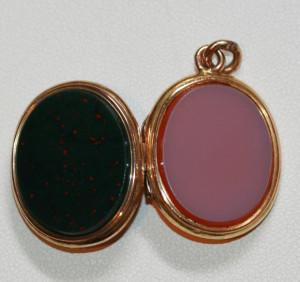 Bloodstone and Carnelian locket