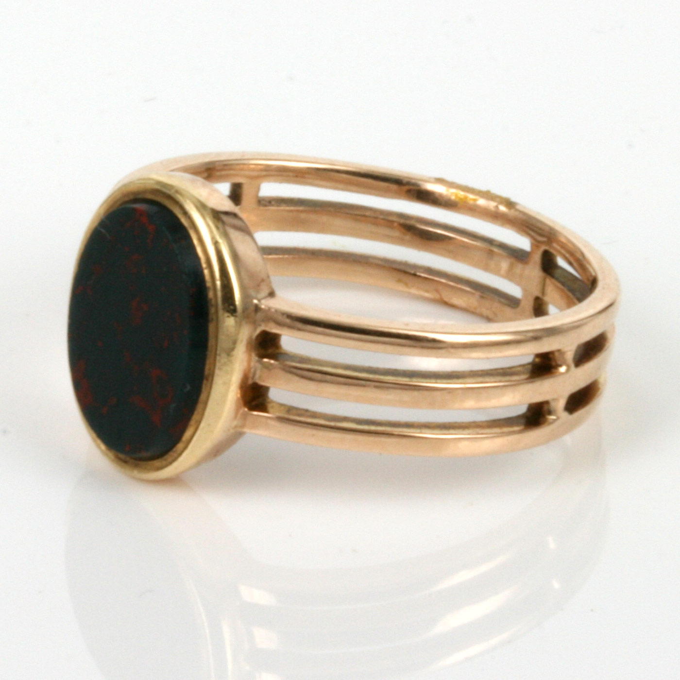 Buy Antique rose gold signet ring with bloodstone  Sold