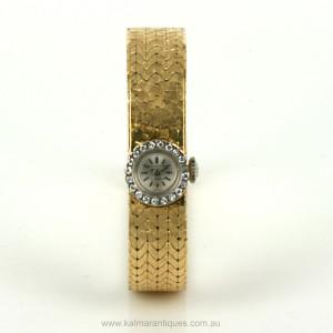 18ct diamond set Bucherer watch