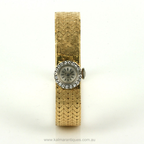 18ct diamond set Bucherer watch