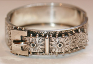 Sterling silver antique bangle