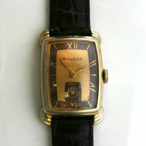 Manual wind vintage Bulova watch.