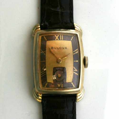 Manual wind vintage Bulova watch.