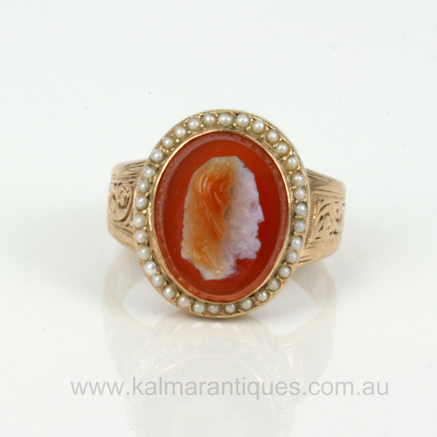 Buy antique cameo vintage antique cameo antique jewellery in antique hard stone cameo ring with pearls aloadofball Choice Image
