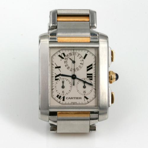 Gold & Steel Cartier Cronoflex model 2303