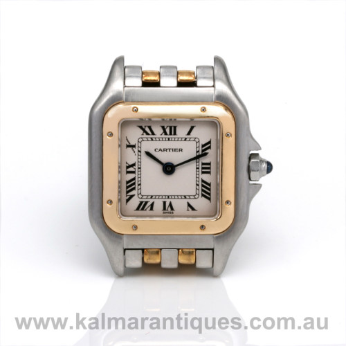 Gold and steel Cartier Panthere watch reference 1120