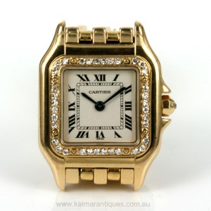 18ct gold diamond set Cartier Panthere watch