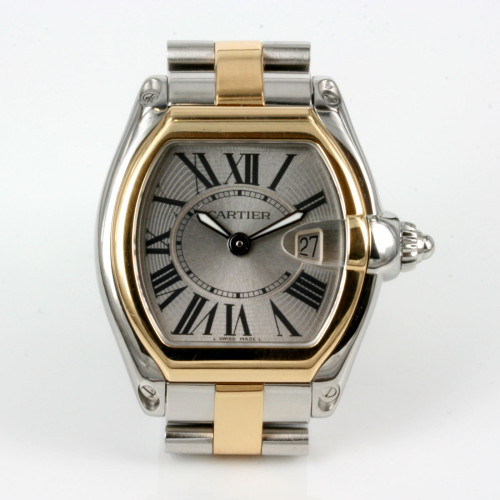 Gold & steel Cartier Roadster model 2675